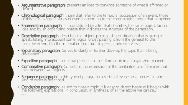 how many types of paragraph