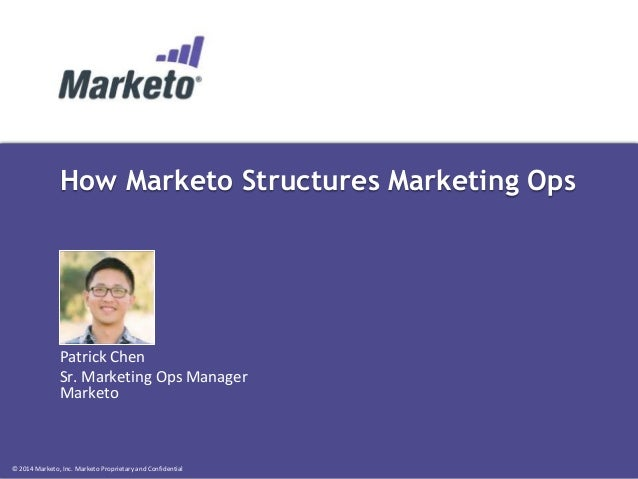 How Marketo Structures Marketing Operations