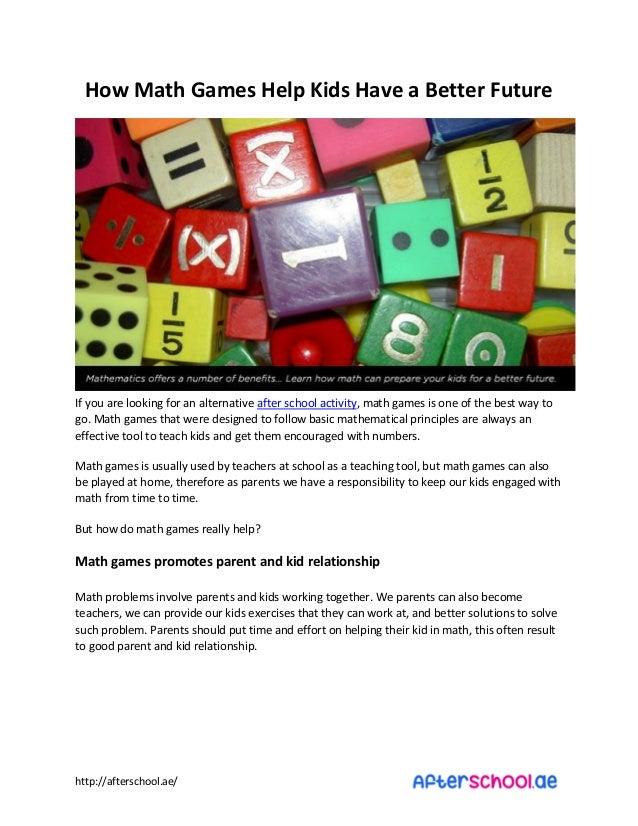 How Math Games Help Kids Have a Better Future