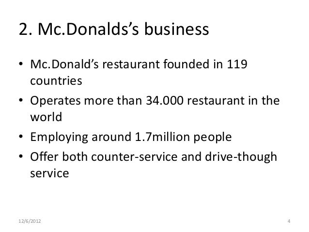 mc donalds as a business And the most common example is the do-it-yourself'er who's just starting out in business people starting online businesses are notorious for this they build their own website, create products to sell, set up shopping carts, market their products, and close the sale all by themselves meantime, their website.
