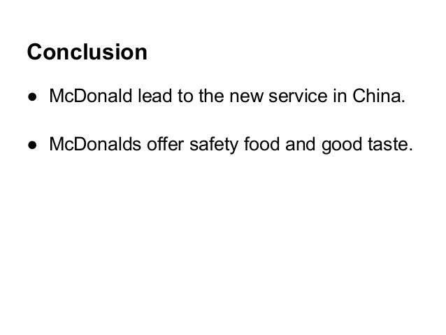 drive through mcdonalds china case Case study 1: drive-thru service times @ mcdonald's question 1: after returning from the training session at hamburger university, a mcdonald's store owner.