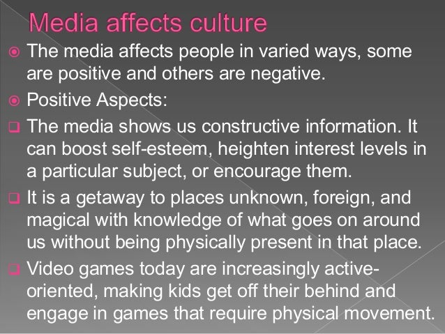 mass media effects on people The mass media is a diversified 3 main effects or functions of mass media: certain groups of people, as the only media coverage a person.