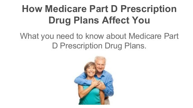 Affectingyou: How Medicare Part D Prescription Drug Plans Affect You