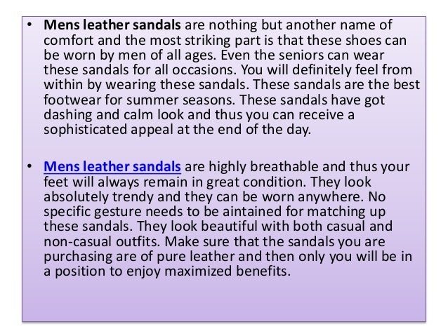 How Mens leather sandals have created a huge market craze?