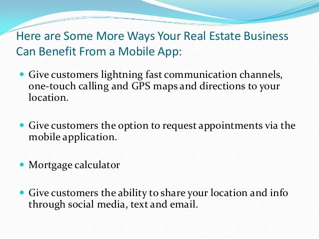 """References """"The Mobile Wave"""" by Michael Sayer, Vanguard Press, 2012 """"How Mobile Apps Can Help Your Real Estate Business""""..."""