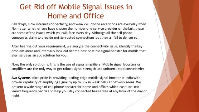 How mobile signal booster works - AVA Systems