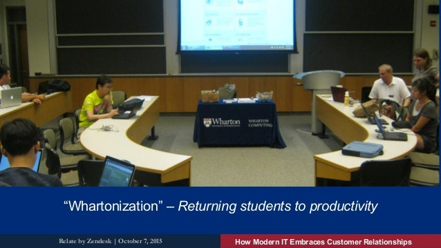 """KNOWLEDGE FOR ACTION """"Whartonization"""" – Returning students to productivity How Modern IT Embraces Customer RelationshipsRe..."""