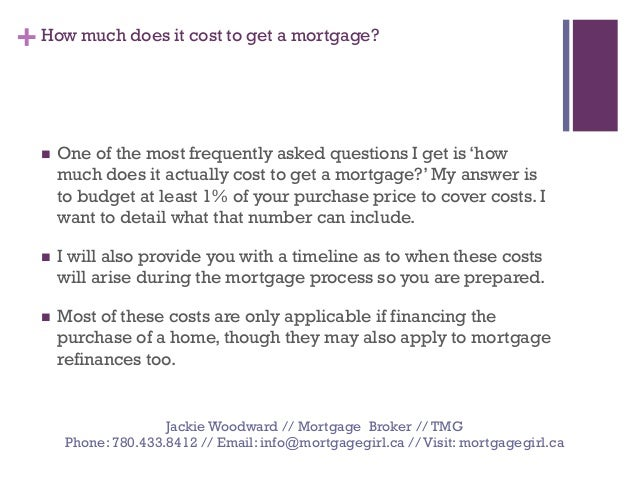how much does it cost to get a mortgage