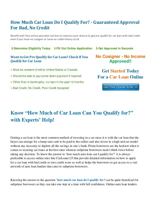 How Much Car Loan Do I Qualify For? Know PreQualification Criteria