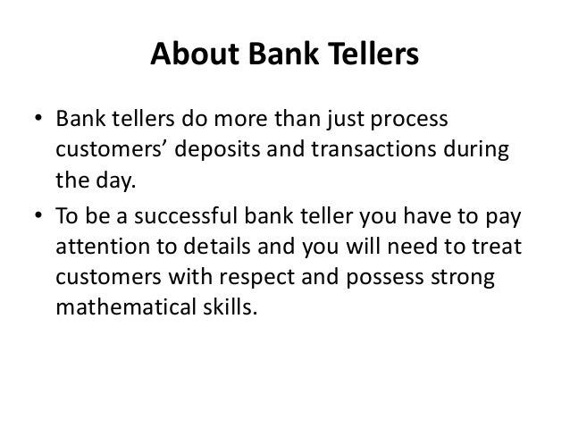 How Much Do Bank Tellers Make