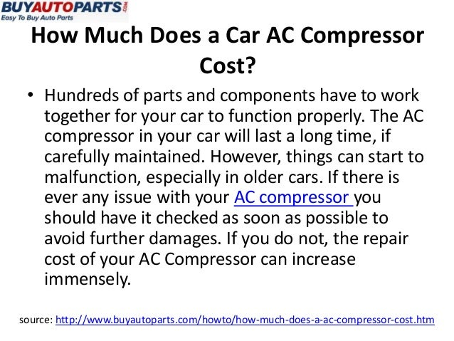 Car Ac Compressor Cost >> How Much Does An AC Compressor Cost