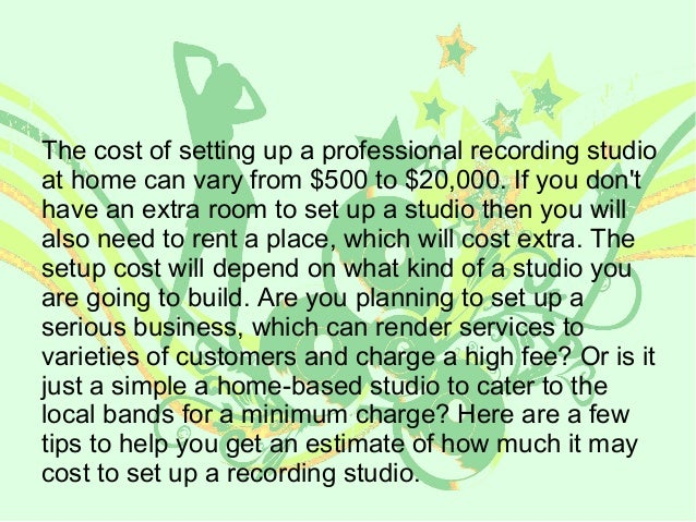 how much does a recording studio cost