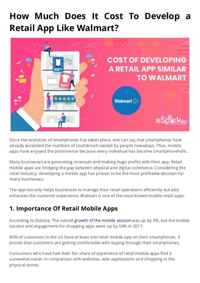 Retail Mobile App- Cost and Factors to take in consideration