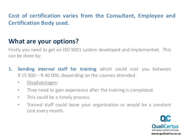 certification iso cost much does