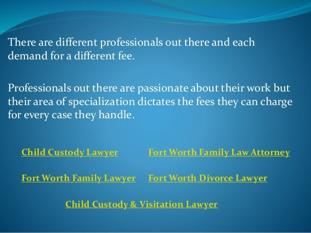 Mostly, in case both spouses have opted for a child support lawyer, it is important that the parties involved resolve on w...