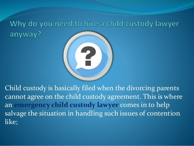 In case this strategy also fails to yield results, the child custody cases are then taken to full trial before a judge in ...