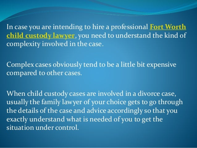 Child custody is basically filed when the divorcing parents cannot agree on the child custody agreement. This is where an ...