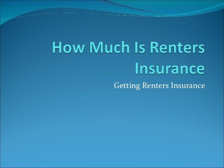 Getting Renters Insurance
