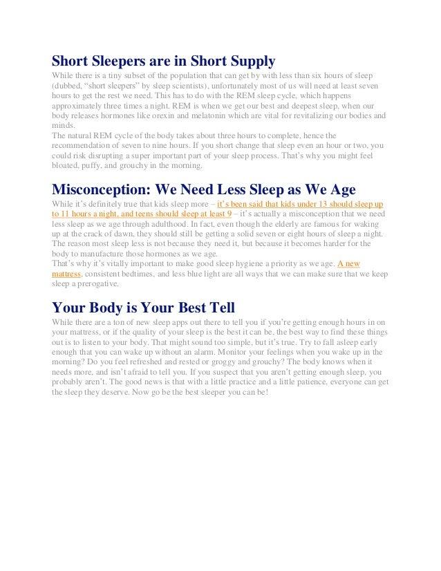How Much Sleep is Enough Sleep? Slide 2