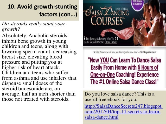 can steroids stunt your growth