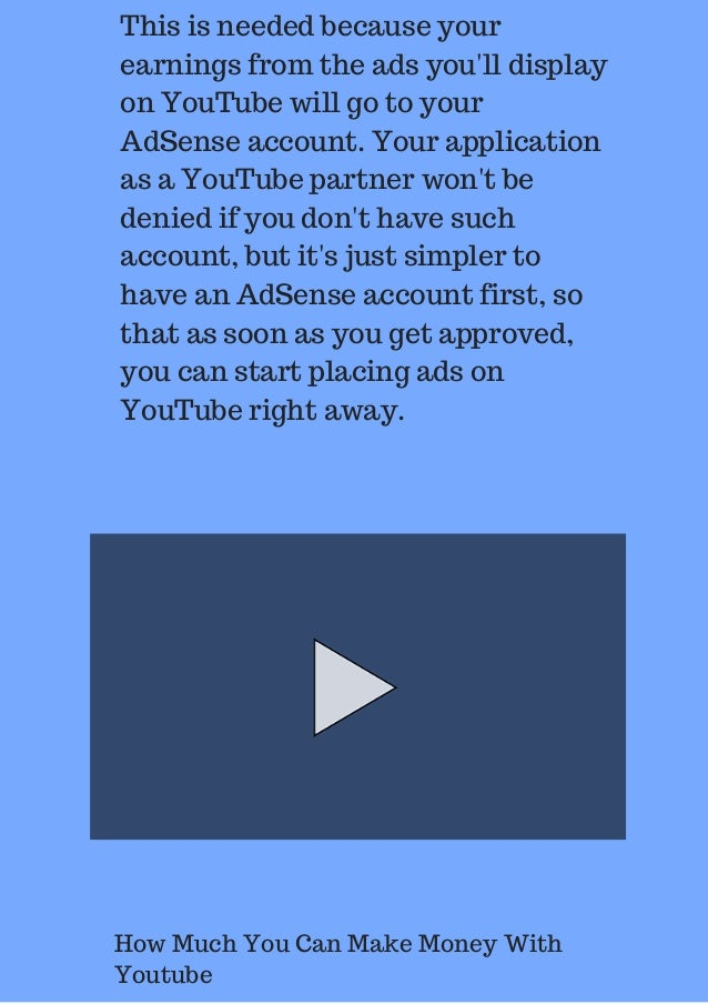 How Much You Can Make Money With Youtube