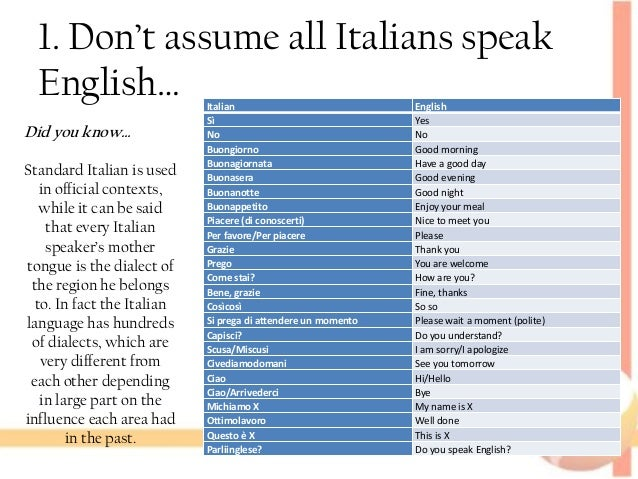 English In Italian: 3 TIPS On How Not To Have A Lousy Summer In…ITALY