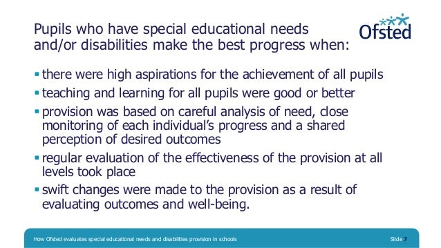 history of special needs provision in The send system supports children and young people with  the send system applies to all children and young people with special educational needs and.