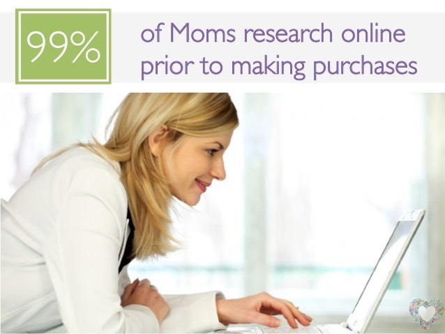 of Moms research onlineprior to making purchases !99%!