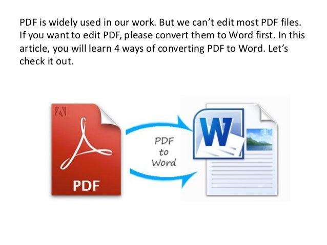 who to convert pdf to word