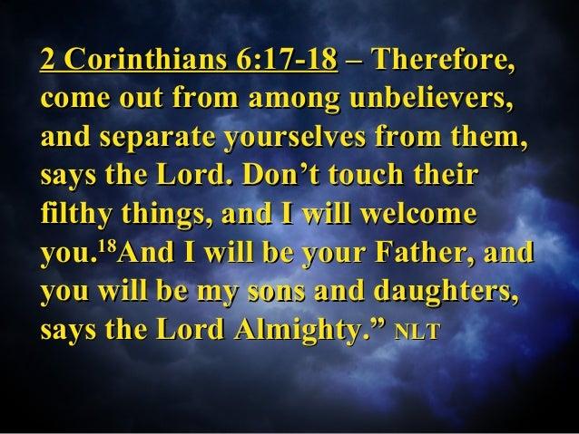 Kuvahaun tulos haulle 2 Cor. 6:17