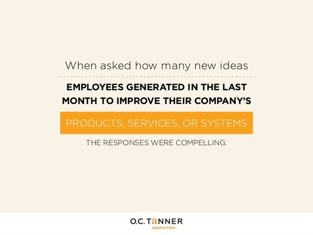 When asked how many new ideas EMPLOYEES GENERATED IN THE LAST MONTH TO IMPROVE THEIR COMPANY'S  PRODUCTS, SERVICES, OR SYS...