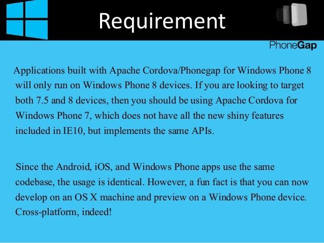 Build Windows  App Phonegap