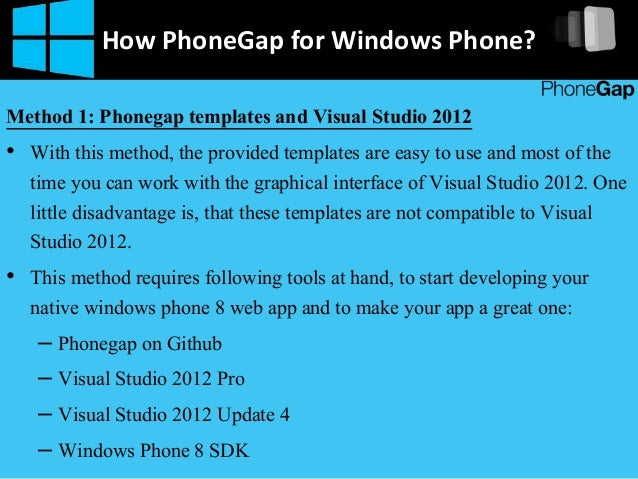 How to build phonegap app for windows phone 5 how phonegap pronofoot35fo Choice Image