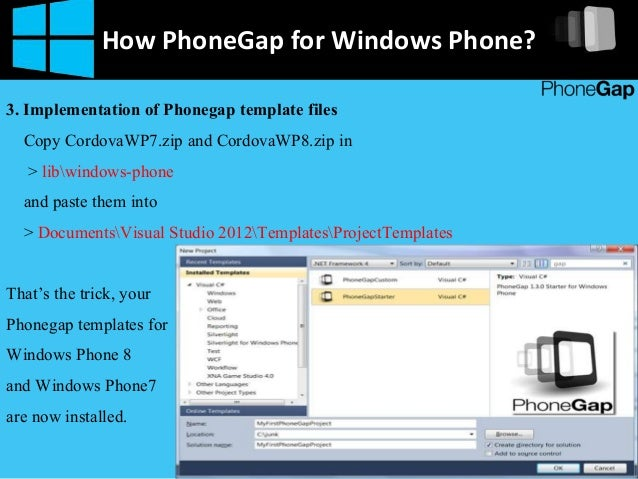 how to build phonegap app for windows phone