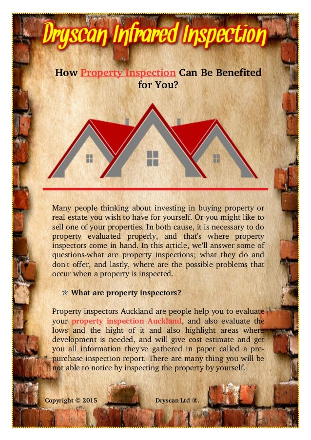 How Property Inspection Can Be Benefited for You? Many people thinking about investing in buying property or real estate y...