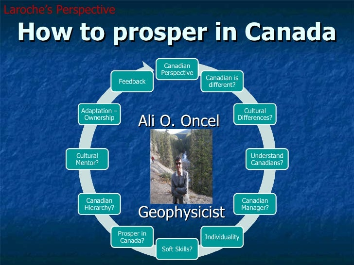 How to prosper in Canada Ali O. Oncel  Geophysicist Laroche's Perspective