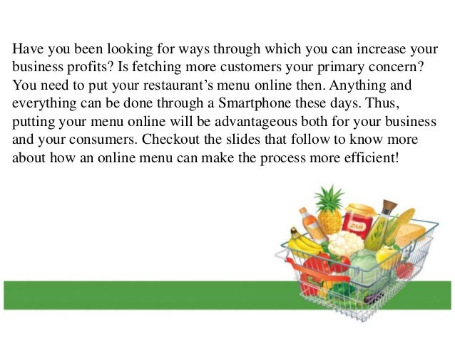 How Putting Your Menu Online Will Fetch You More Customers? Slide 2
