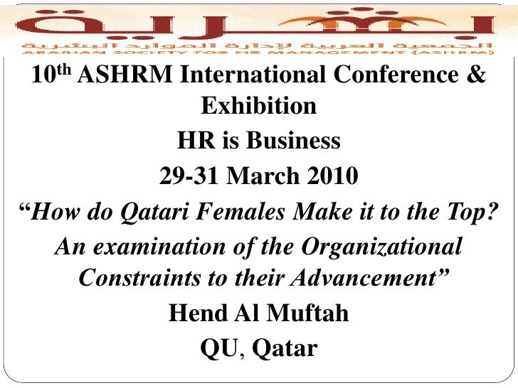 "10th ASHRM International Conference &                 Exhibition              HR is Business             29-31 March 2010""..."