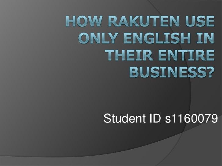 Student ID s1160079