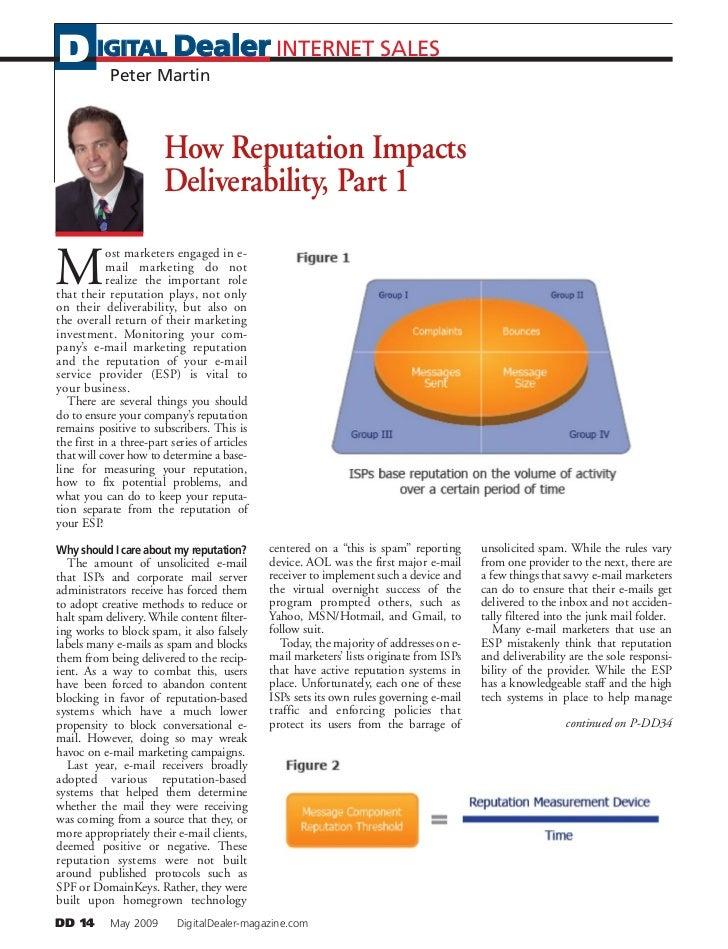D IGITAL Dealer INTERNET SALES    Peter Martin                            How Reputation Impacts                         D...