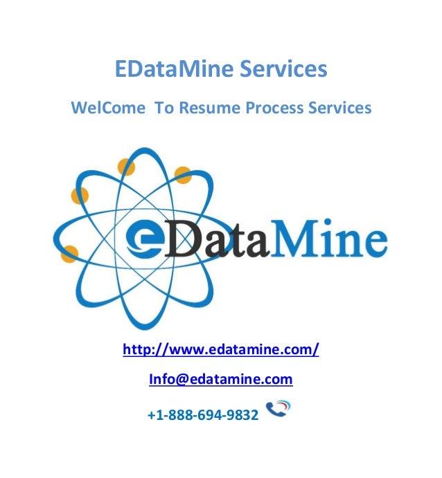 Resume Formatting Services EDataMIne