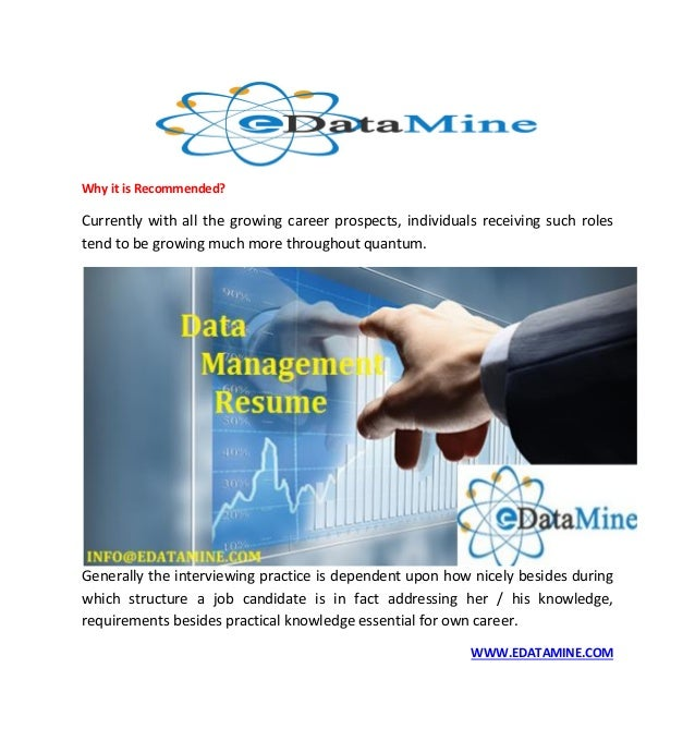 Resume Formatting Services - Edatamine