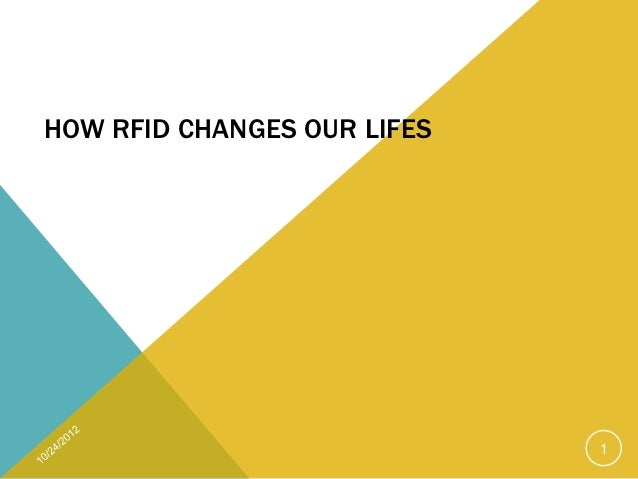 HOW RFID CHANGES OUR LIFES                             1