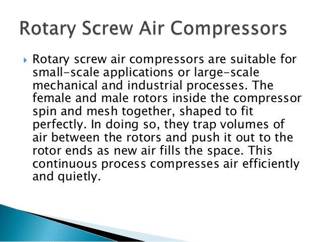 how screw compressor works pdf