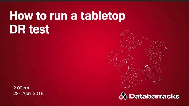 How to run a tabletop DR test