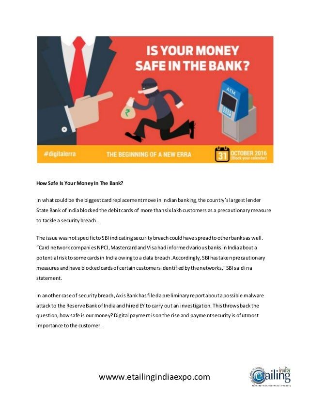 is your money safe in the bank