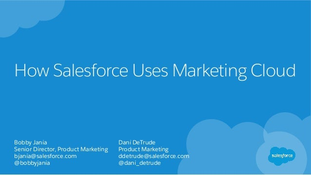 How Salesforce Uses Marketing Cloud