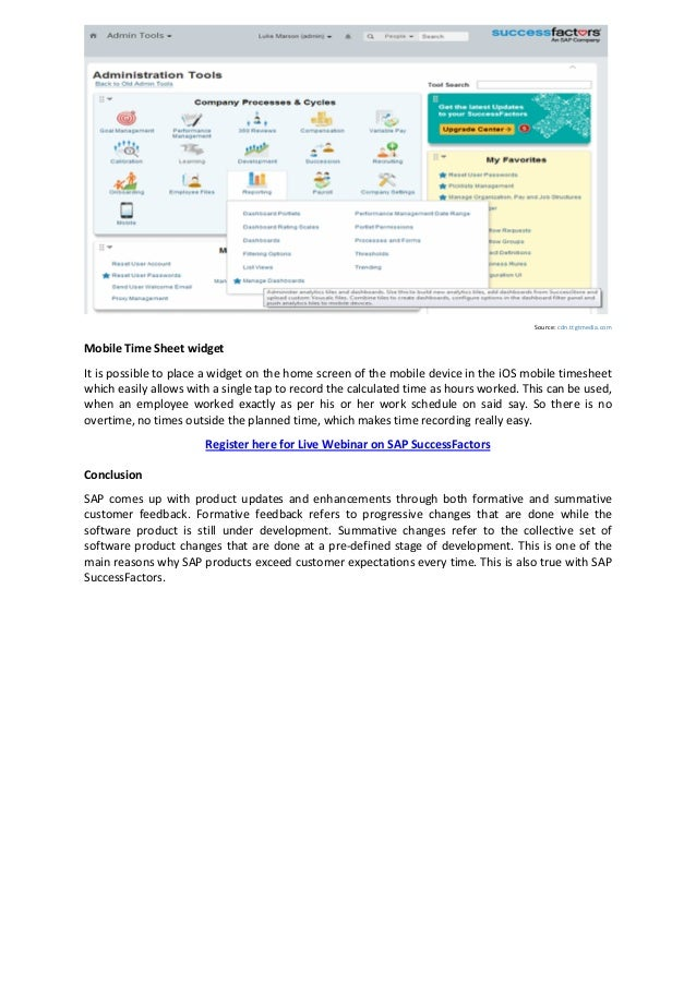 How SAP SuccessFactors Time Off and Admin Tool can be Utilized Effect…