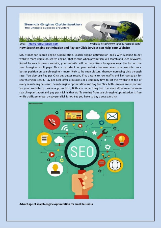 Email- info@aresourcepool.com Website-http://www.aresourcepool.com/ How Search engine optimization and Pay per Click Servi...