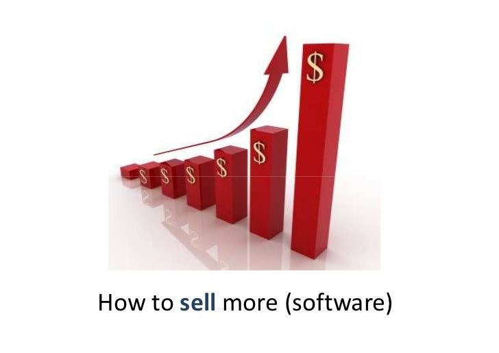 How to sell more (software)